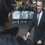 Chatting for ITV on the red carpet with Paul Bettany