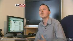 Mark Boardman showbiz feature on SKY NEWS