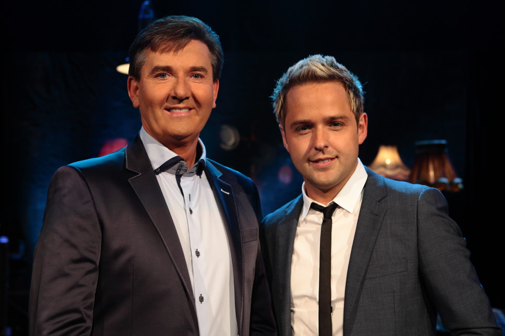 Derek Ryan photographed with Daniel O'Donnell