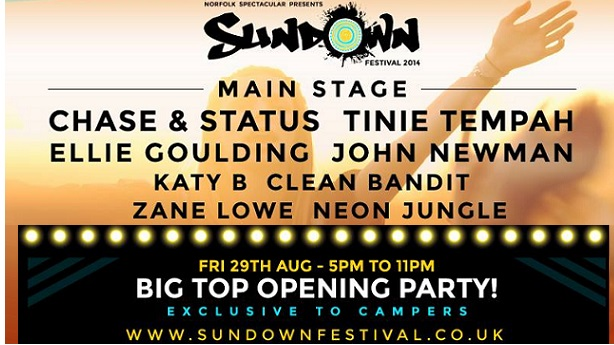'Ones to Watch' confirmed to round off main stage at Sundown Festival 2014.