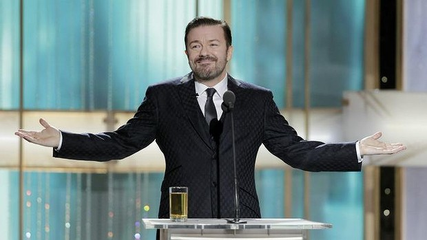 Ricky Gervais will host the Golden Globe Awards for the fourth time