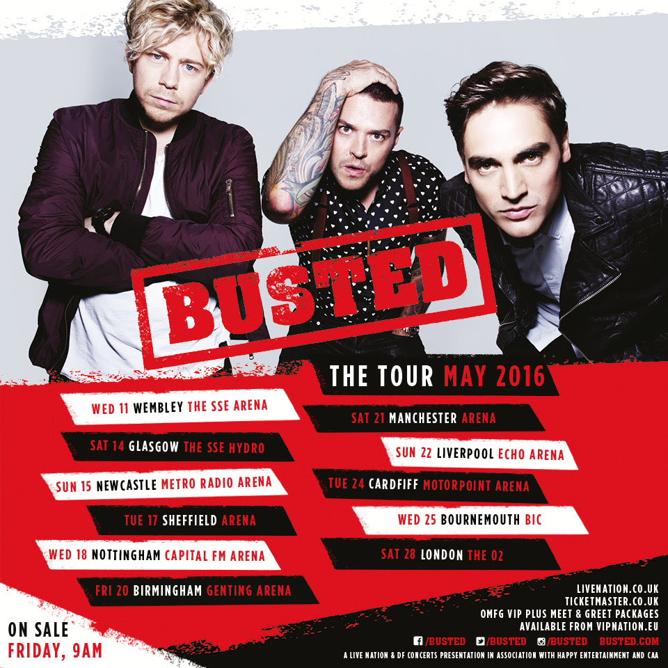 Busted reunite for new music and tour!
