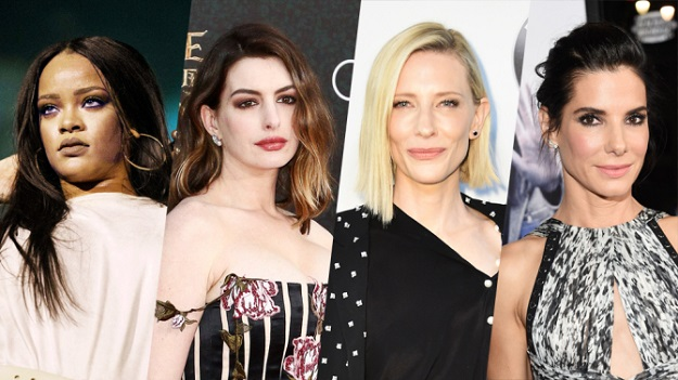 Sandra Bullock Cate Blanchett, Anne Hathaway, Helena Bonham Carter, Rihanna, Awkwafina, Mindy Kaling, Ocean's 8, movie news, markmeets